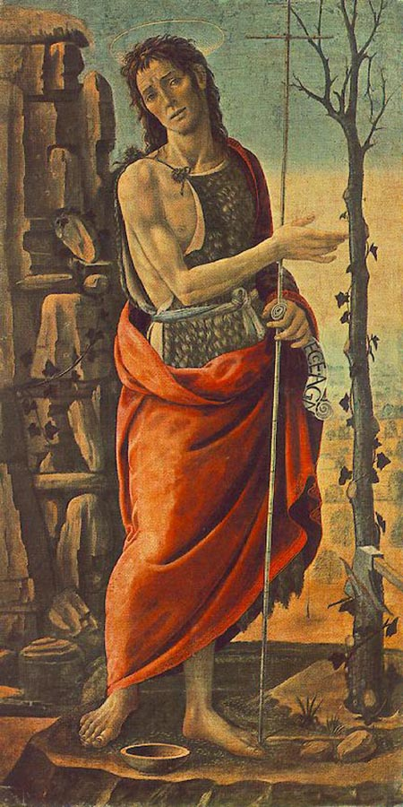 St John the Baptist 1485 | Jacopo del Sellaio | Oil Painting