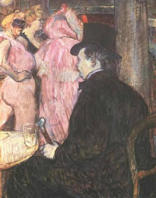 Maxime de Thomas at the Opera Ball 1896 | Henri Toulouse Lautrec | Oil Painting