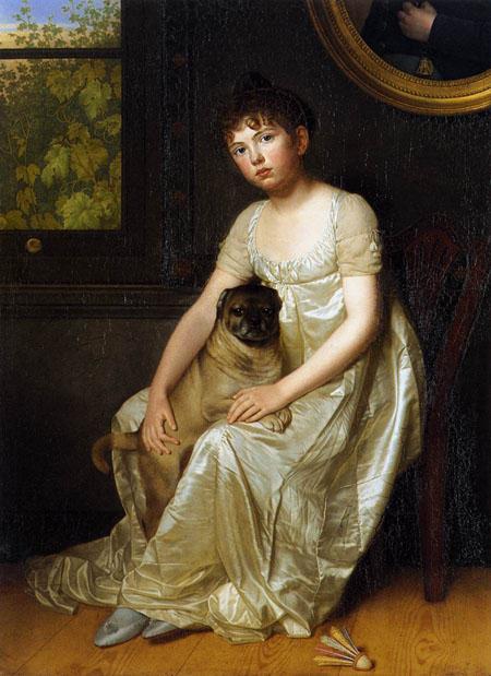Portrait of Sylvie de la Rue 1810 | Francois van der Donckt | Oil Painting