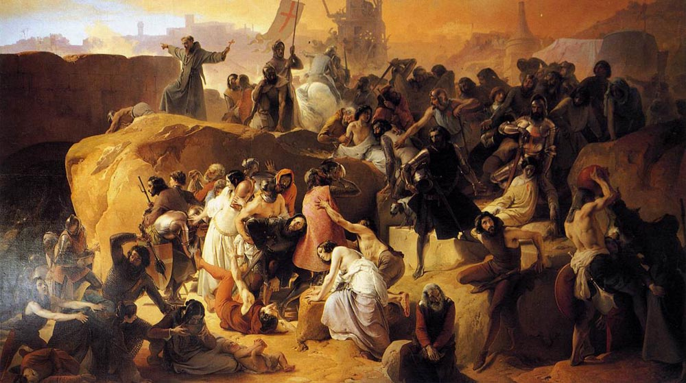 Crusaders Thirsting near Jerusalem 1836 1850 | Francesco Hayez | Oil Painting