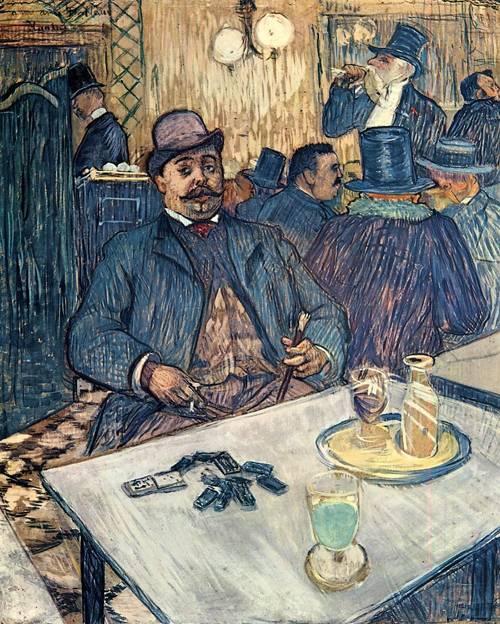Monsieur Boleau in a Cafe 1893 | Henri Toulouse Lautrec | Oil Painting