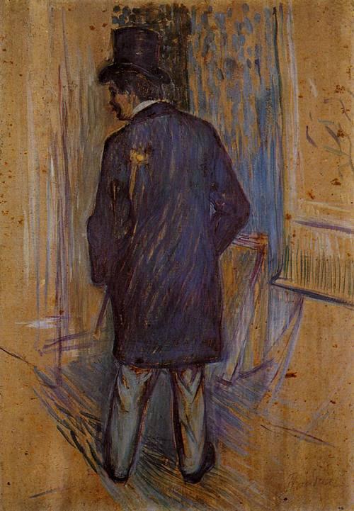 Monsieur Louis Pascal from the Rear 1893 | Henri Toulouse Lautrec | Oil Painting