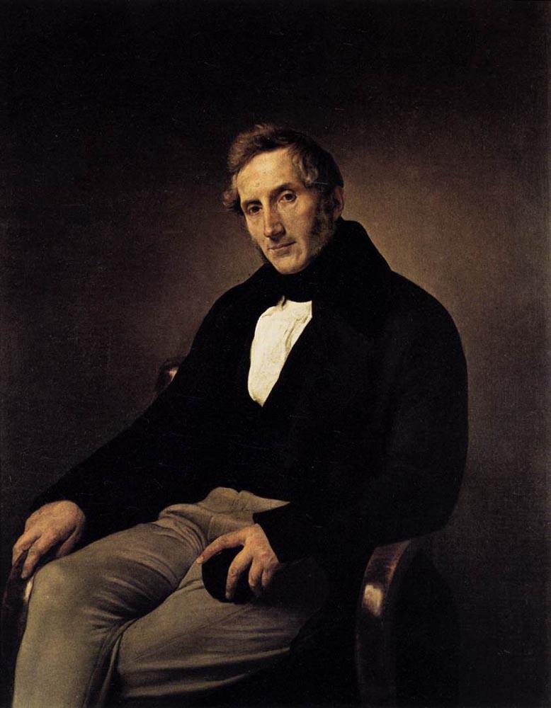 Portrait of Alessandro Manzoni 1841 | Francesco Hayez | Oil Painting