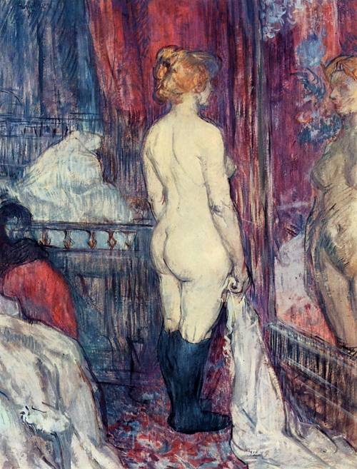 Nude Stanging before a Mirror 1897 | Henri Toulouse Lautrec | Oil Painting