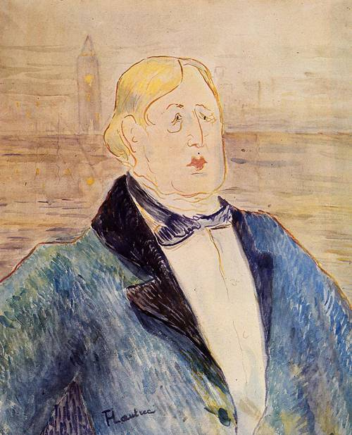 Oscar Wilde 1895 | Henri Toulouse Lautrec | Oil Painting