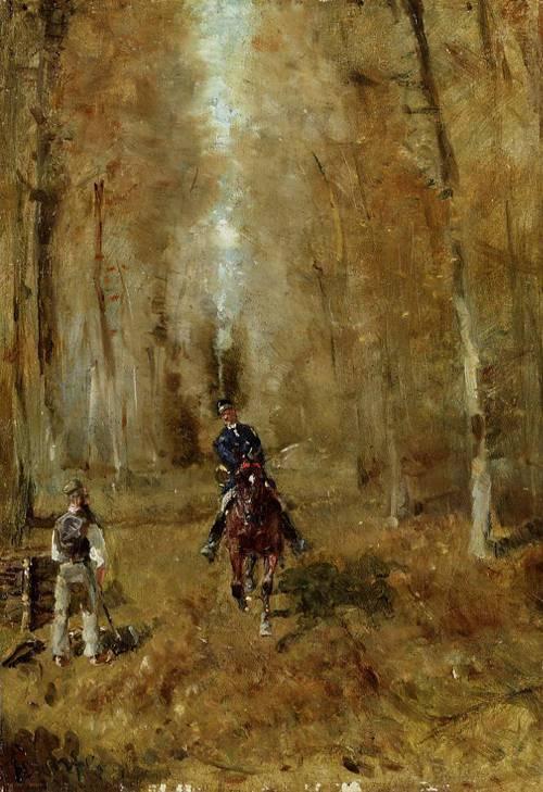 Piquer et Bucheron 1882 | Henri Toulouse Lautrec | Oil Painting