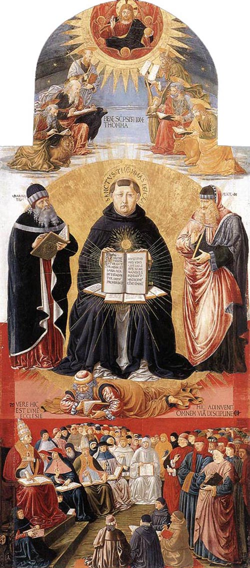 Triumph of St Thomas Aquinas 1471 | Benozzo di Lese di Sandro Gozzoli | Oil Painting