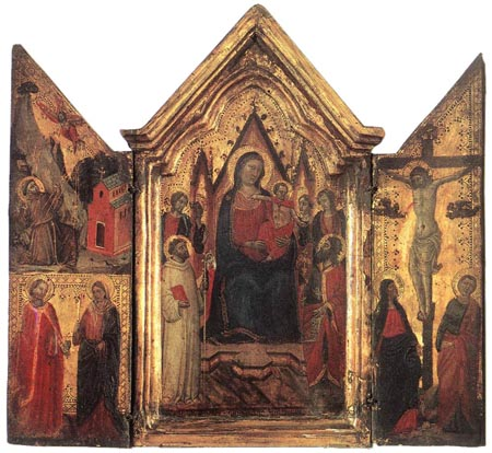 Madonna Enthroned with Angels and Saints 1320 1330 | Jacopo del Casentino | Oil Painting