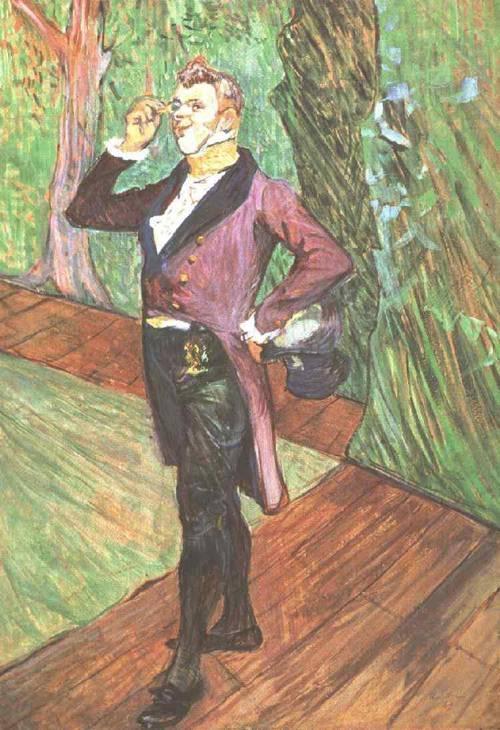 Portrait of M. Samary 1889 | Henri Toulouse Lautrec | Oil Painting