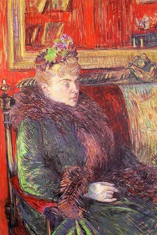 Portrait of Madame de Gortzikolff 1893 | Henri Toulouse Lautrec | Oil Painting