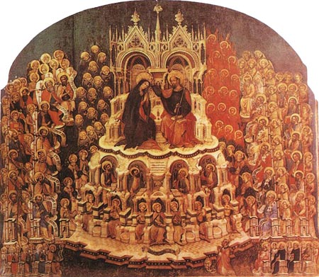 Coronation of the Virgin 1438 | Jacobello Del Fiore | Oil Painting