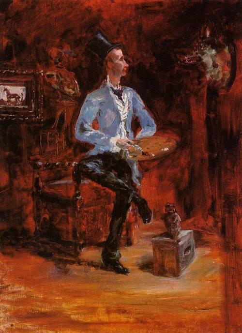 Princeteau in His Studio 1881-1882 | Henri Toulouse Lautrec | Oil Painting