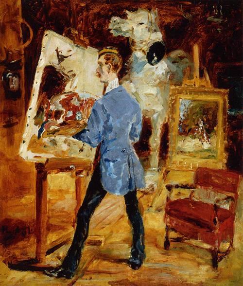 Princeteau in His Studio 1881 | Henri Toulouse Lautrec | Oil Painting