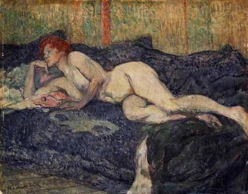 Reclining Nude 1897 | Henri Toulouse Lautrec | Oil Painting