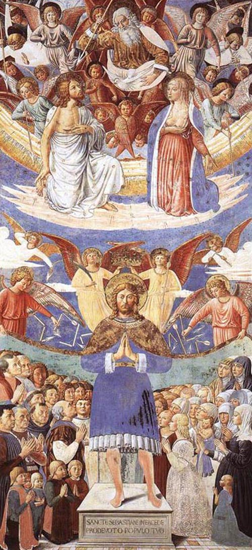 St Sebastian Intercessor 1464 1465 | Benozzo di Lese di Sandro Gozzoli | Oil Painting