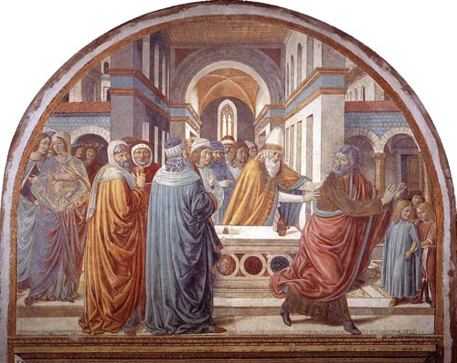 Expulsion of Joachim from the Temple 1491 | Benozzo di Lese di Sandro Gozzoli | Oil Painting