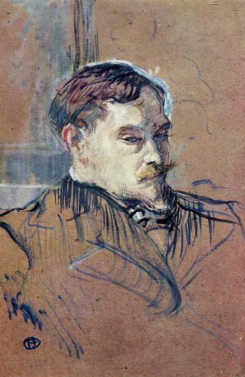Romain Coolus 1899 | Henri Toulouse Lautrec | Oil Painting