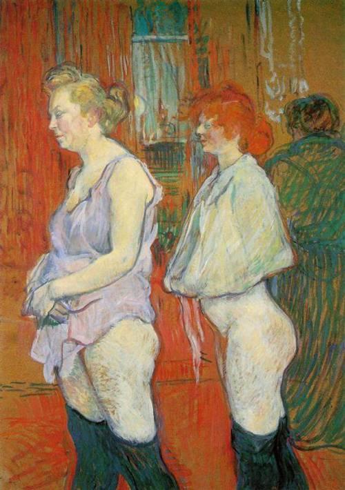 Rue des Moulins-The Medical Inspection 1894 | Henri Toulouse Lautrec | Oil Painting