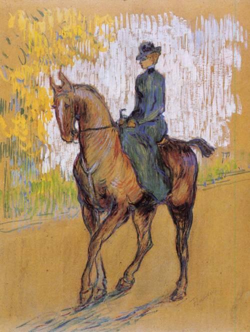 Side-Saddle 1899 | Henri Toulouse Lautrec | Oil Painting