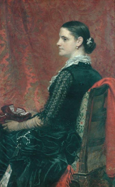 Mrs Thomas Hicks 1884 | Thomas Hicks | Oil Painting