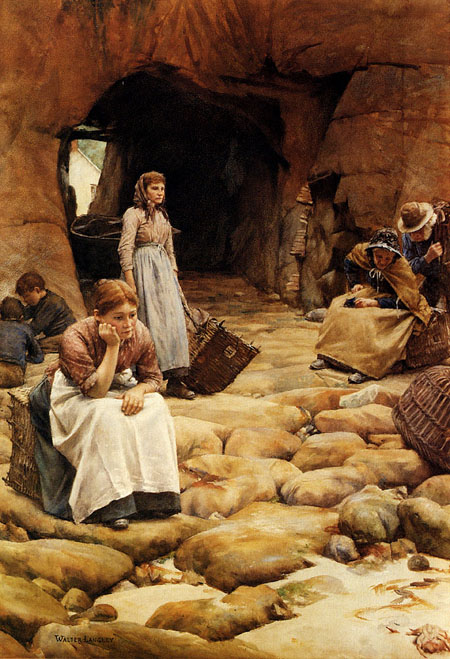 In The Fishing Season | Walter Langley | Oil Painting