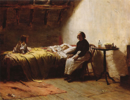 Motherless 1895 | Walter Langley | Oil Painting