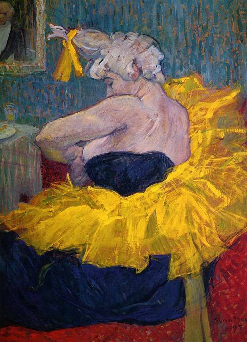 The Clowness Cha-U-Kao Fastening Her Bodice 1895 | Henri Toulouse Lautrec | Oil Painting