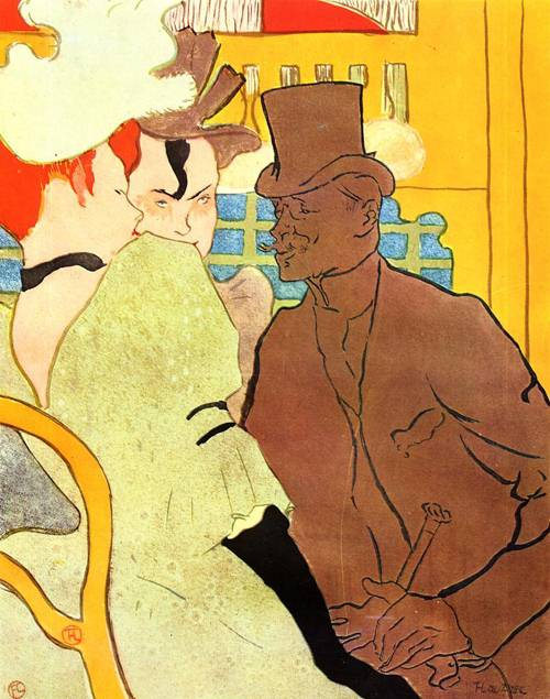 The Englishman at the Moulin Rouge 1892 | Henri Toulouse Lautrec | Oil Painting