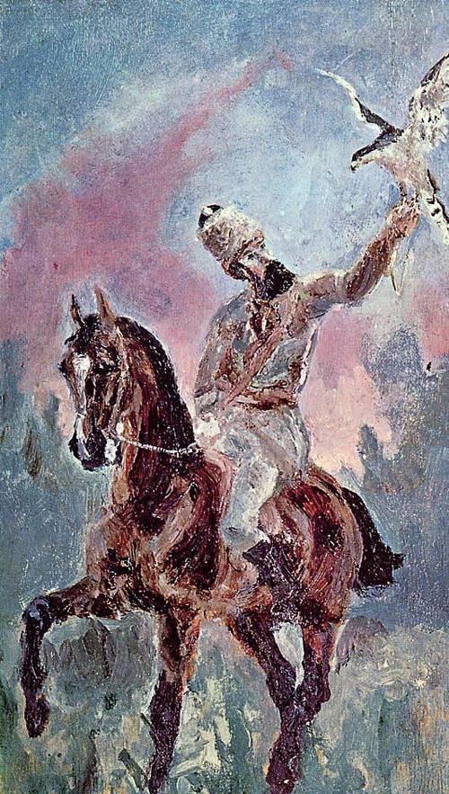 The Falconer Comte Alphonse de Toulouse-Lautrec 1881 | Henri Toulouse Lautrec | Oil Painting