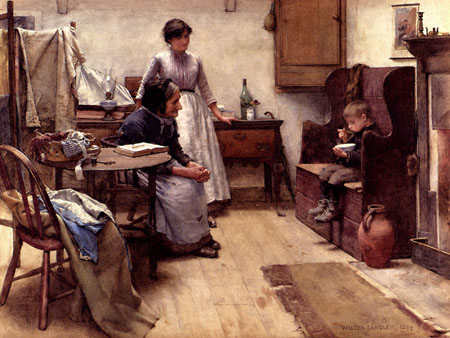 The Orphan 1889 | Walter Langley | Oil Painting