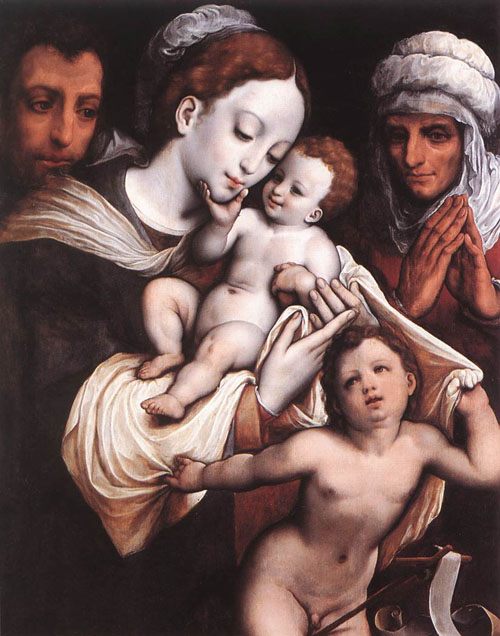 Holy Family | Cornelis van Cleve | Oil Painting