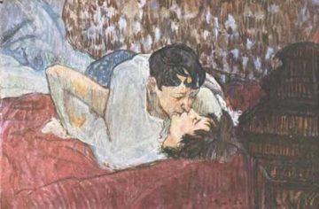 The Kiss 1892 | Henri Toulouse Lautrec | Oil Painting
