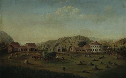 Leete Farm West Claremont New Hampshire 1822 | Francis Alexander | Oil Painting