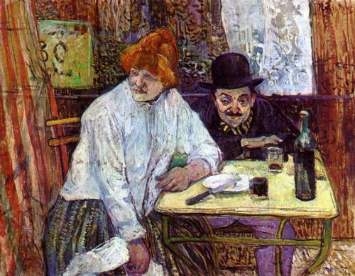 The Last Crunbs (aka A la Mie) 1891 | Henri Toulouse Lautrec | Oil Painting
