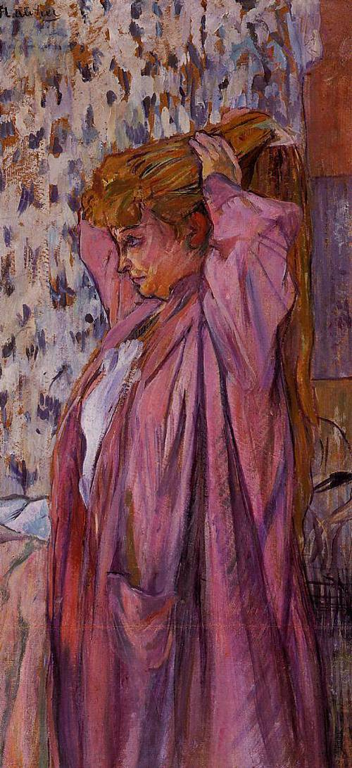 The Madame Redoing Her Bun 1893 | Henri Toulouse Lautrec | Oil Painting
