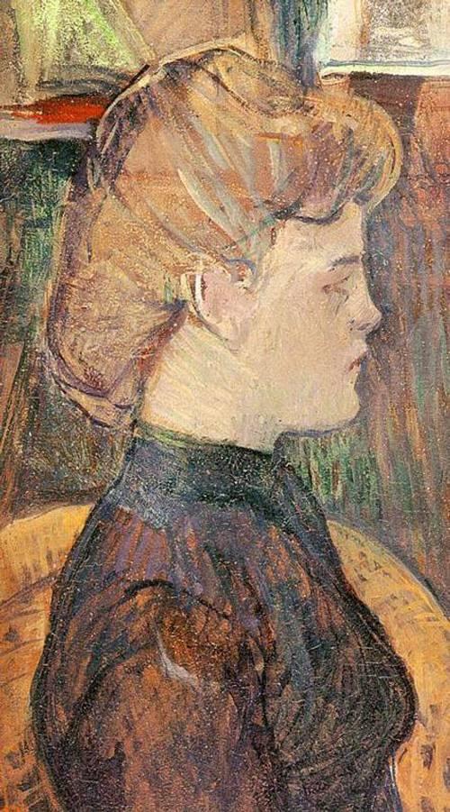 The Painter's Model Helene Vary in the Studio 1889 | Henri Toulouse Lautrec | Oil Painting