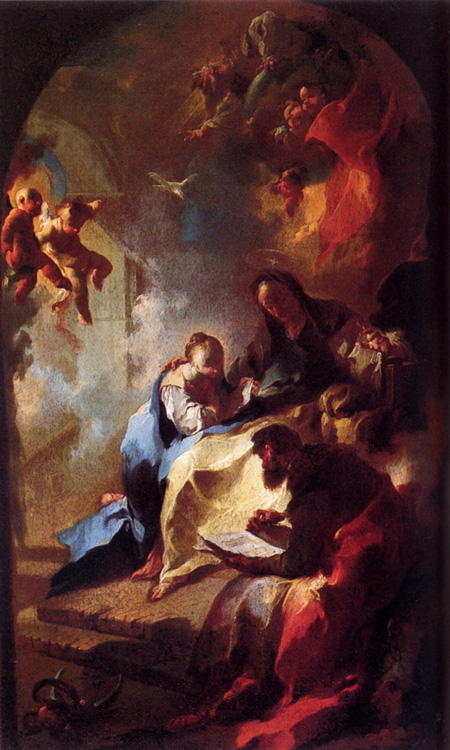 The Education Of Mary 1755 | Franz Anton Maulbertsch | Oil Painting