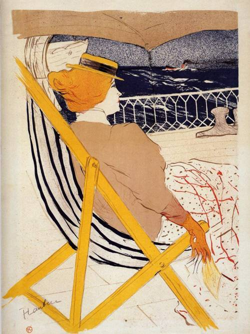 The Passenger in Cabin 54 (aka The Cruise) 1896 | Henri Toulouse Lautrec | Oil Painting
