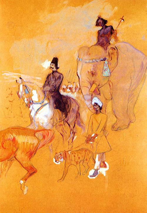 The Procession of the Raja 1895 | Henri Toulouse Lautrec | Oil Painting