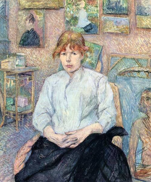 The Redhead with a White Blouse 1888 | Henri Toulouse Lautrec | Oil Painting