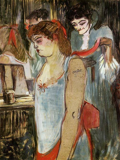 The Tatooed Woman 1894 | Henri Toulouse Lautrec | Oil Painting