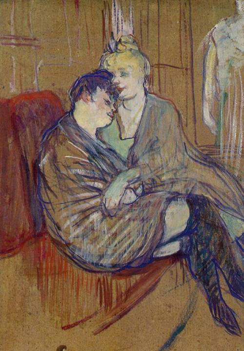 The Two Girlfriends 1894 | Henri Toulouse Lautrec | Oil Painting