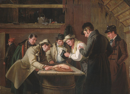 The Raffle 1837 | William Sidney Mount | Oil Painting