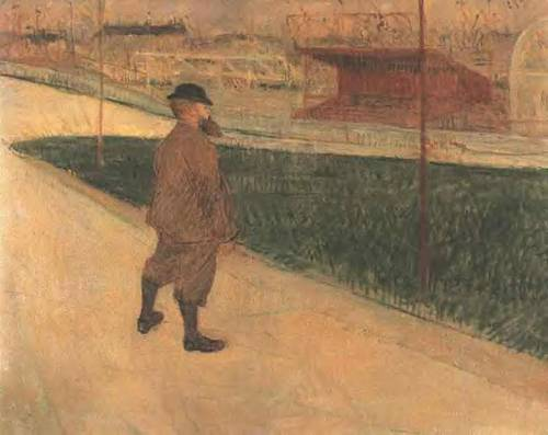 Tristan Bernard at the Buffalo Station 1895 | Henri Toulouse Lautrec | Oil Painting