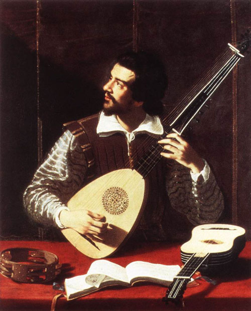 The Theorbo Player 1615 | Antiveduto Gramatica | Oil Painting