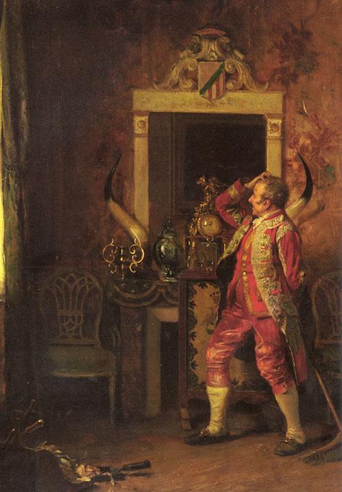 A Momentary Diversion 1868 | Eduardo Zamacois y Zabala | Oil Painting