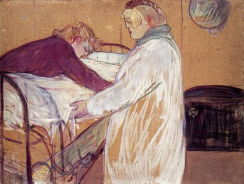 Two Women Making the Bed 1891 | Henri Toulouse Lautrec | Oil Painting