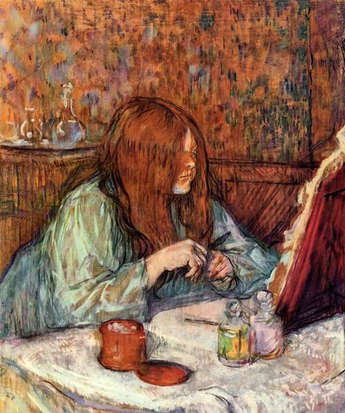 Woman at Her Toilette Madame Poupoule 1900 | Henri Toulouse Lautrec | Oil Painting