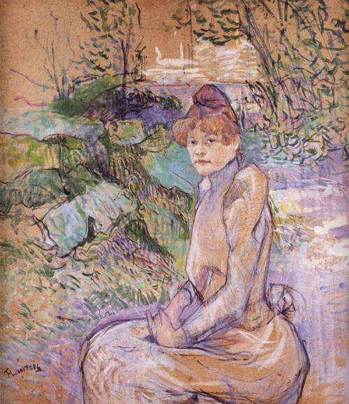 Woman in Monsieur Forest's Garden 1891 | Henri Toulouse Lautrec | Oil Painting