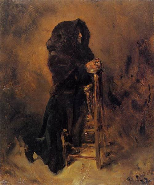 Woman in Prayer 1882 | Henri Toulouse Lautrec | Oil Painting